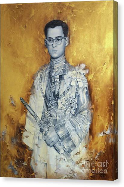 King Bhumibol Canvas Print by Chonkhet Phanwichien