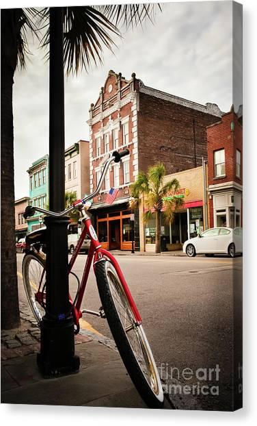 King Street Charleston Sc  -7436 Canvas Print