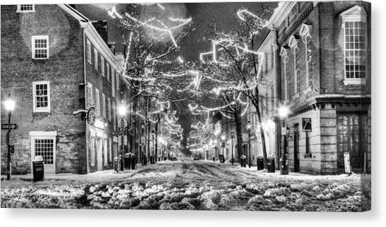 King Street In Black And White Canvas Print