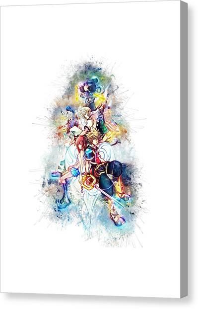 Street Fighter Canvas Print - Kingdom Hearts  by Kamran Rezakhani