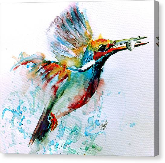 Kingfisher Canvas Print - Kingfisher by Steven Ponsford