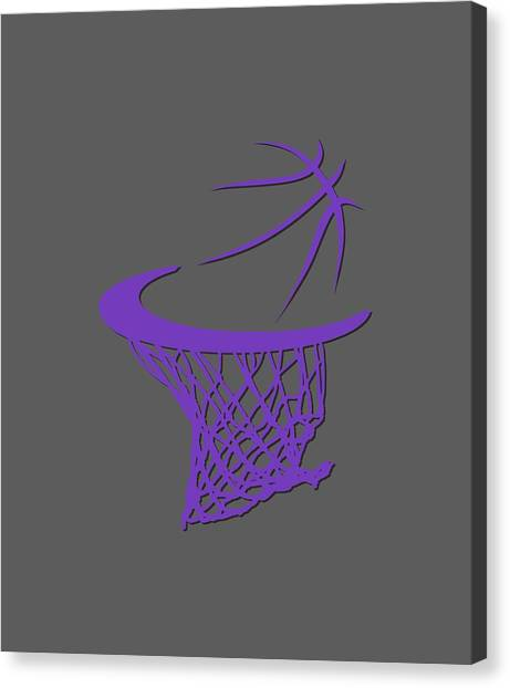 Sacramento Kings Canvas Print - Kings Basketball Hoop by Joe Hamilton