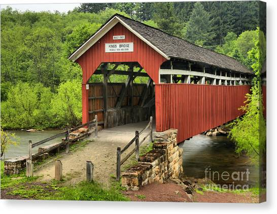 Kings Covered Bridge Somerset Pa Canvas Print