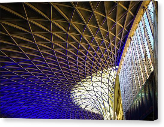 Kings Cross Railway Station Roof Canvas Print