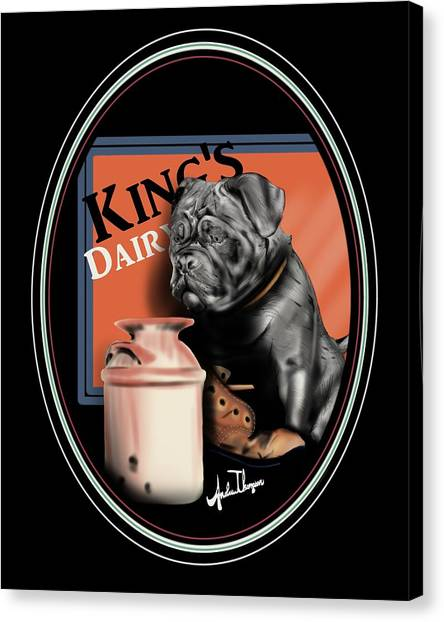 King's Dairy  Canvas Print