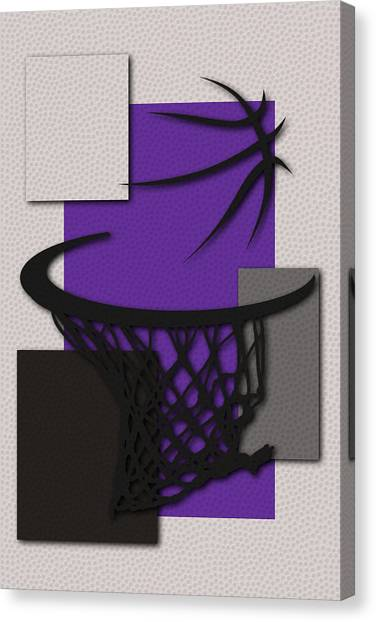 Sacramento Kings Canvas Print - Kings Hoop by Joe Hamilton