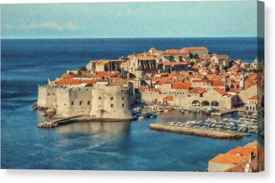 Kings Landing Dubrovnik Croatia - Dwp512798 Canvas Print