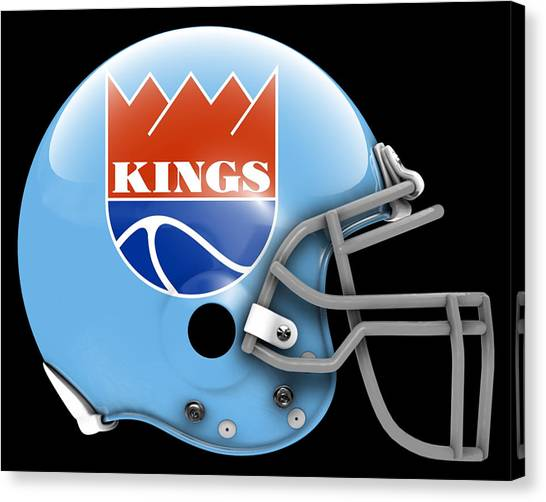 Sacramento Kings Canvas Print - Kings What If Its Football 2 by Joe Hamilton