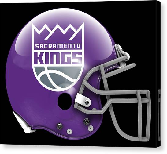 Sacramento Kings Canvas Print - Kings What If Its Football 3 by Joe Hamilton