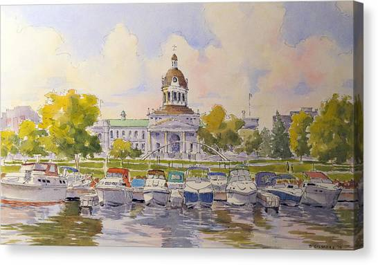 Kingston City Hall And Harbour Canvas Print
