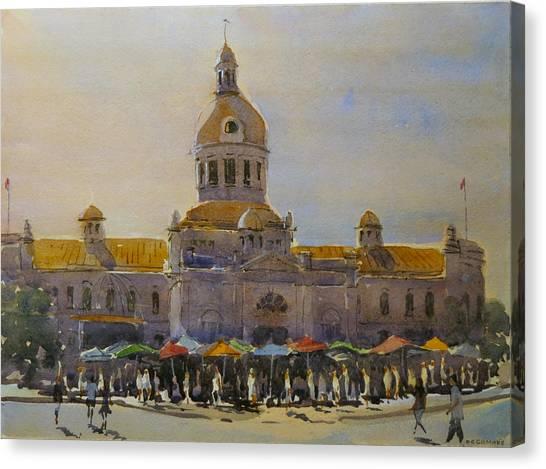 Kingston-city Hall Market Morning Canvas Print