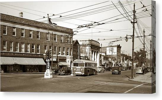 Kingston Corners Kingston Pa Early 1950s Canvas Print