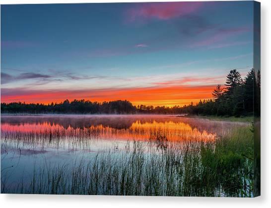 Kingston Lake Sunset Canvas Print