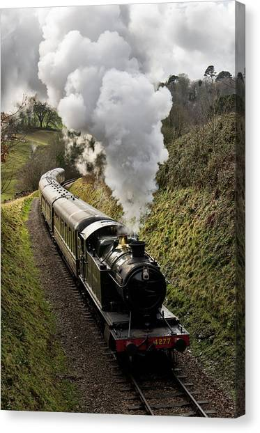 Kingswear To Paignton Train Canvas Print