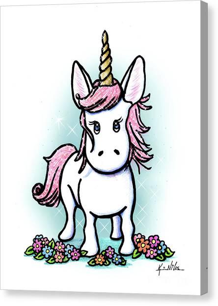 Unicorns Canvas Print - Kiniart Unicorn Sparkle by Kim Niles