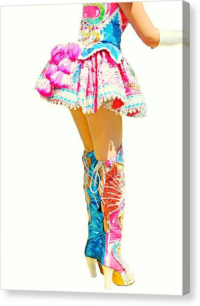Bolivian Canvas Print - Kinky Boots by Diana Angstadt
