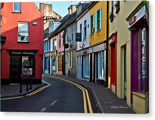 Canvas Print featuring the photograph Kinsale Street by Edward Peterson