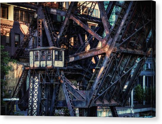 Kinzie Rail Bridge Detail Canvas Print