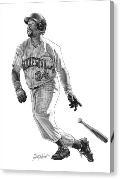 Minnesota Twins Canvas Print - Kirby Puckett by Harry West