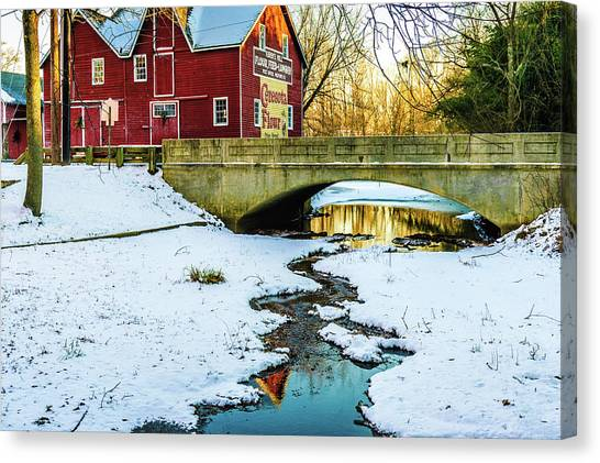 Kirby's Mill Landscape - Creek Canvas Print