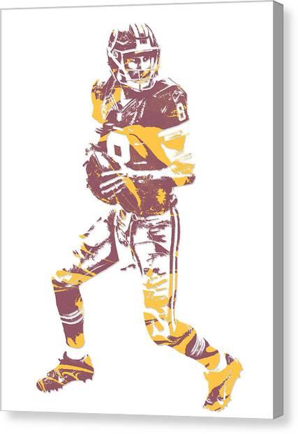 Washington Redskins Canvas Print - Kirk Cousins Washington Redskins Pixel Art 1 by Joe Hamilton