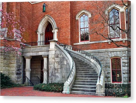 Vanderbilt University Canvas Print - Kirkland Hall Stairway Vanderbilt University  1839 by Jack Schultz