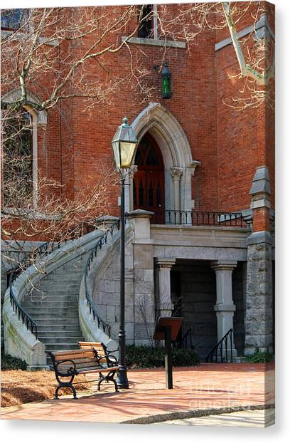 Vanderbilt University Canvas Print - Kirkland Hall Stairway Vanderbilt University  1871 by Jack Schultz