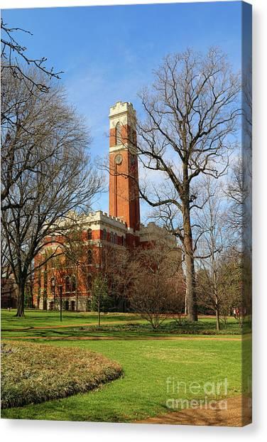 Vanderbilt University Canvas Print - Kirkland Hall Vanderbilt University  1866 by Jack Schultz