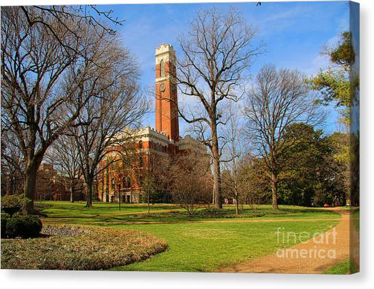 Vanderbilt University Canvas Print - Kirkland Hall Vanderbilt University  1867 by Jack Schultz