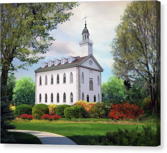 Kirtland Temple Canvas Print by Brent Borup