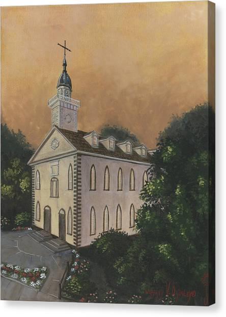 Kirtland Temple Canvas Print