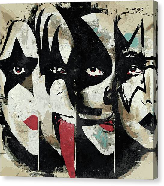 Rock Music Canvas Print - Kiss Art Print by Geek N Rock