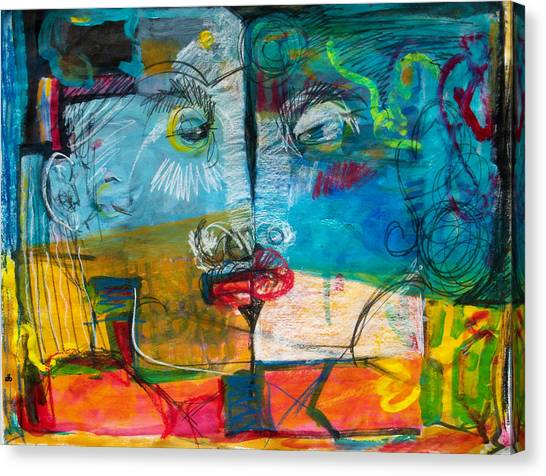 Kiss Canvas Print by Diana Blackwell