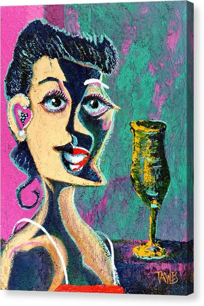 Kiss From The Night Canvas Print by Dennis Tawes