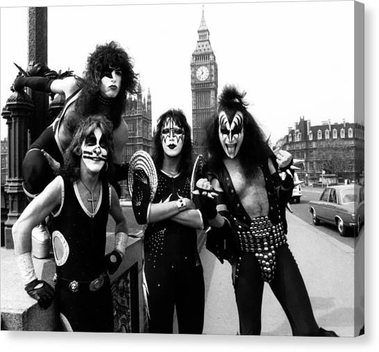 Dad Canvas Print - Kiss In London 1976  by Chris Walter