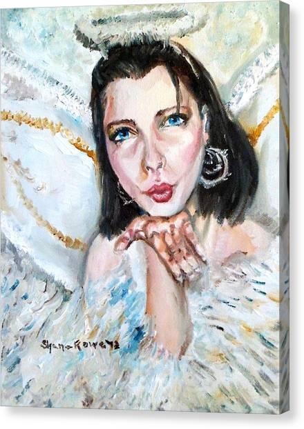 Kiss Of An Angel Canvas Print