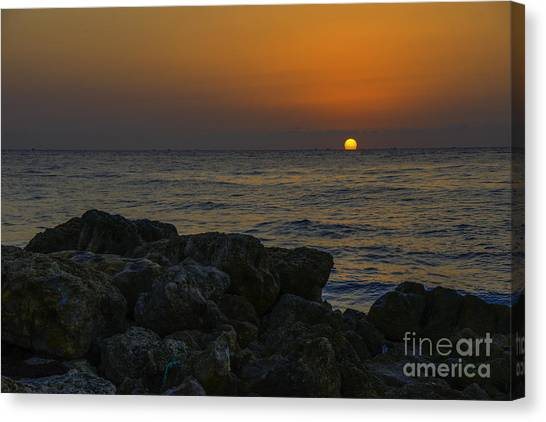 Tequila Sunrise Canvas Print - Kiss The Day by Amanda Sinco