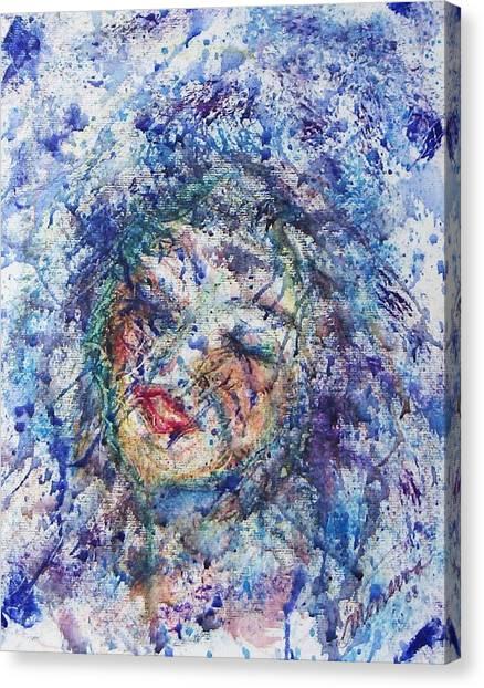 Kiss The Rain Canvas Print by Cathy Minerva