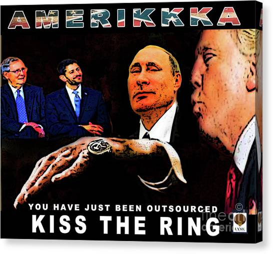 Republican Politicians Canvas Print - Kiss The Ring by Reggie Duffie