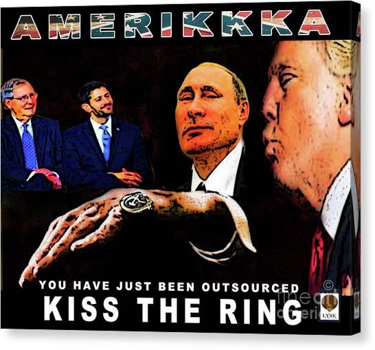 Paul Ryan Canvas Print - Kiss The Ring by Reggie Duffie