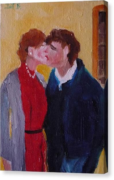 Kiss Time Canvas Print by Irit Bourla
