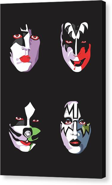 Rock Music Canvas Print - Kiss by Troy Arthur Graphics