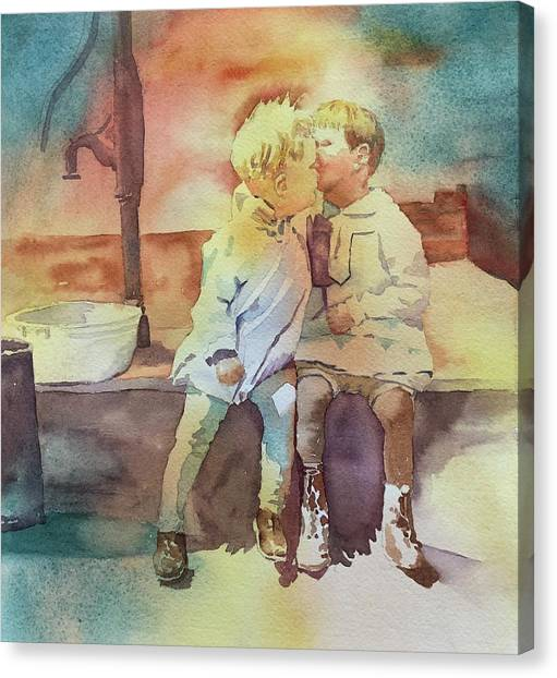 Kissing Cousins Canvas Print