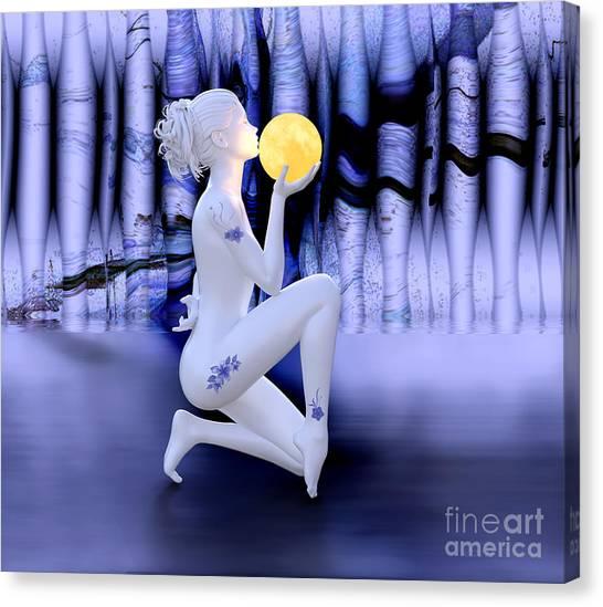 Kissing The Moon Canvas Print