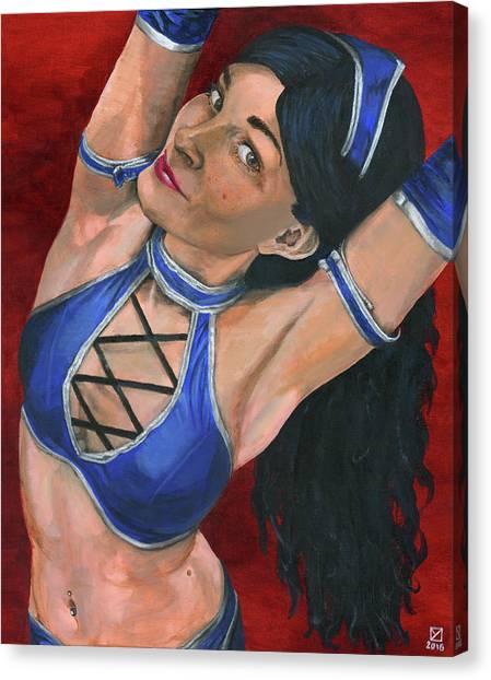 Mortal Kombat Canvas Print - Kitana by Matthew Mezo