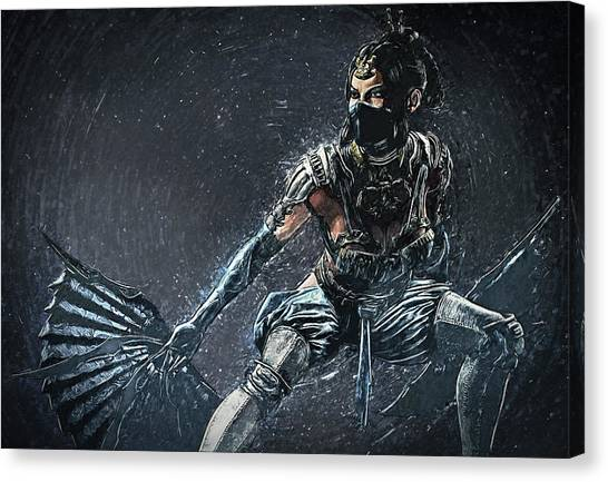 Mortal Kombat Canvas Print - Kitana - Mortal Kombat by Zapista