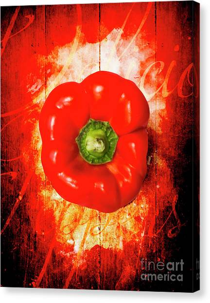 Dinner Table Canvas Print - Kitchen Red Pepper Art by Jorgo Photography - Wall Art Gallery
