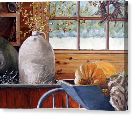 Poppys Canvas Print - Kitchen Scene by Richard T Pranke