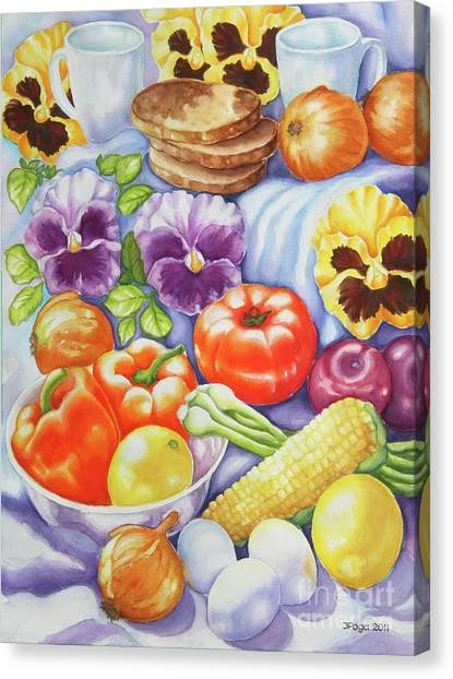 Kitchen Symphony Canvas Print