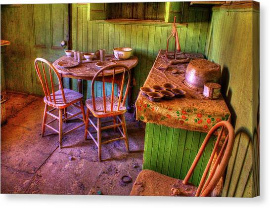 Kitchen Table Bodie California Canvas Print